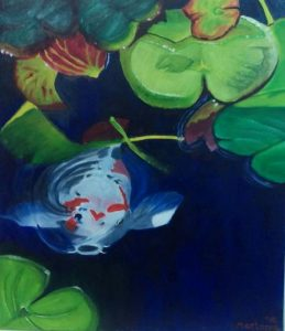 Coy Koi Painting