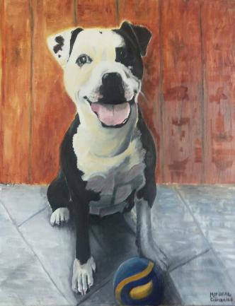 Lets Play commissioned pet painting