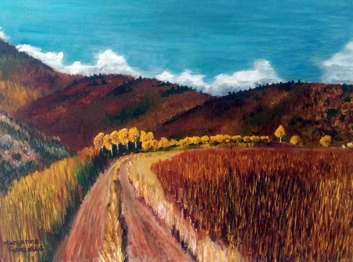 High Desert Road Landscape Painting